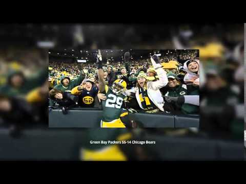 Aaron Rodgers Throws Six Touchdowns Green Bay Packers 55-14 Chicago Bears