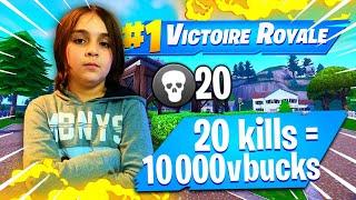 20 KILLS - 10,000 VBUCKS FOR THIS KIKOU ON FORTNITE!