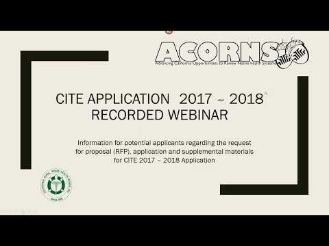 CITE Application 2017 2018 Request for Proposals