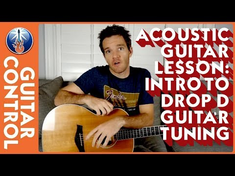 acoustic guitar lesson - intro to drop d guitar tuning