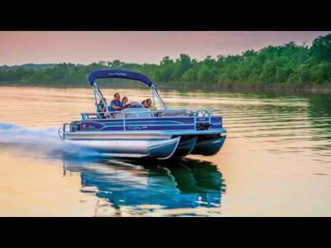 SUN TRACKER Boats 2015 FISHIN' BARGE 22 DLX And XP3 Pontoon Fishing Boats