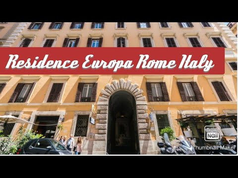 Just A Little Tour Of Our Hotel In Rome...(RESIDENCE EUROPA)