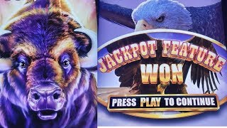 Buffalo Grand Slot Machine Max Bet Bonuses Won & Nice Line Hit | Live Aristocrat Slot Play