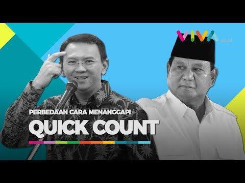 Cara Ahok dan Prabowo Menyikapi Hasil Quick Count
