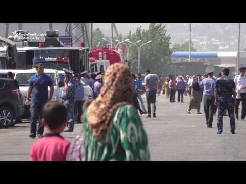 Fire Rips Through Market in Tajik Capital