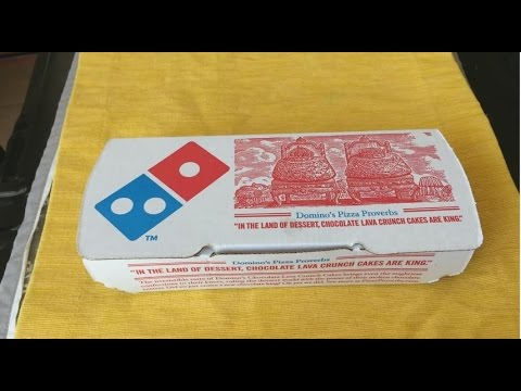 Domino's CHOCOLATE LAVA CRUNCH CAKE Review