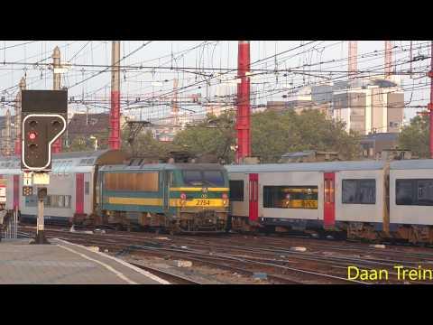 M6 met HLE 27 47 en 27 54 vertrekken uit Brussel Zuid