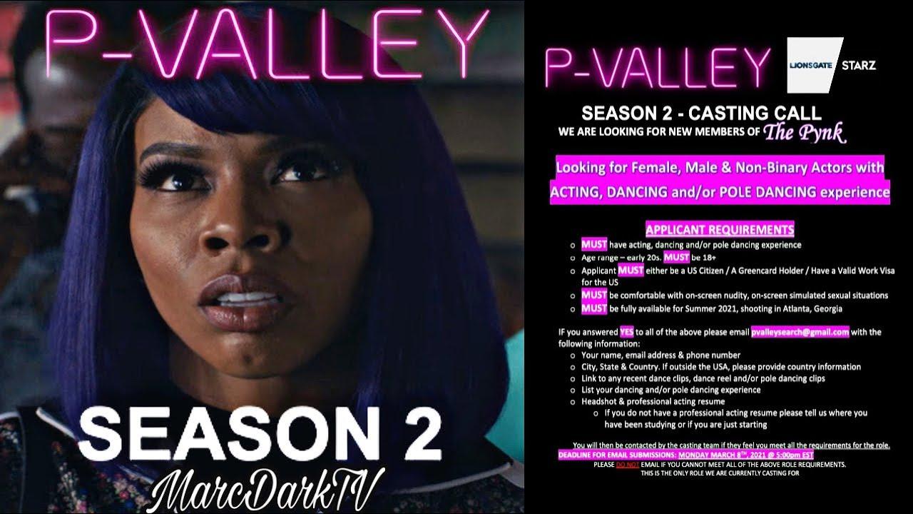 Download P-VALLEY SEASON 2 CASTING INFO!!