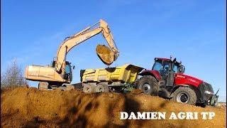 Terrassement d'un Batiment / Pelle Case & 5 tracteurs / Entreprise Montagu