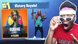*NEW* 6IX9INE CHALLENGE in Fortnite: Battle Royale! (RAINBOW GLITCH?)