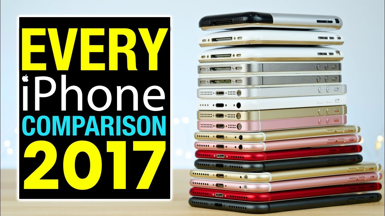 Every iPhone Comparison 2017! - YouTube