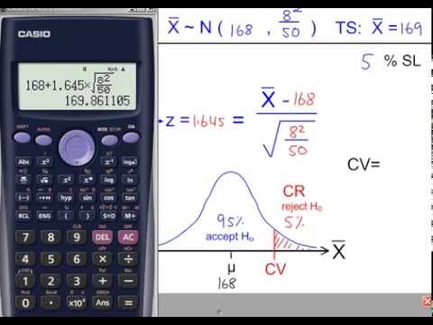S2 - Hypothesis Testing - The Mean, µ using a Normal Distribution - Example 1