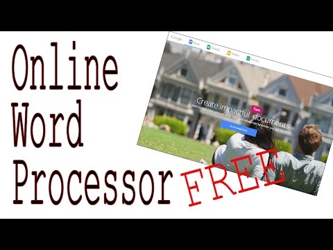 FREE Online Word Processor - In The Cloud Browser & Best Tablet Word Processor - No Download
