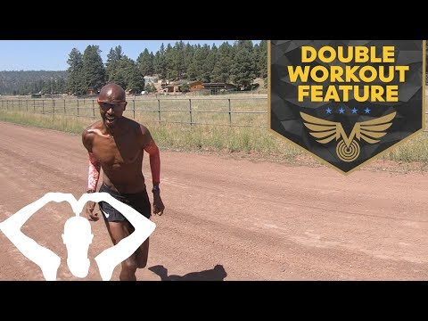 HOW I TRAIN   MO FARAH DOUBLE WORKOUT FEATURE   TRAINING IN FLAGSTAFF
