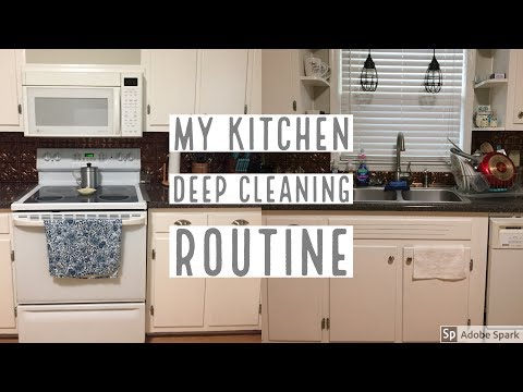 Deep Clean My Kitchen With Me 2017 | Clean With Me | Kelly Lynn