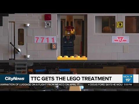 Lego fanatic creates moving TTC subway system