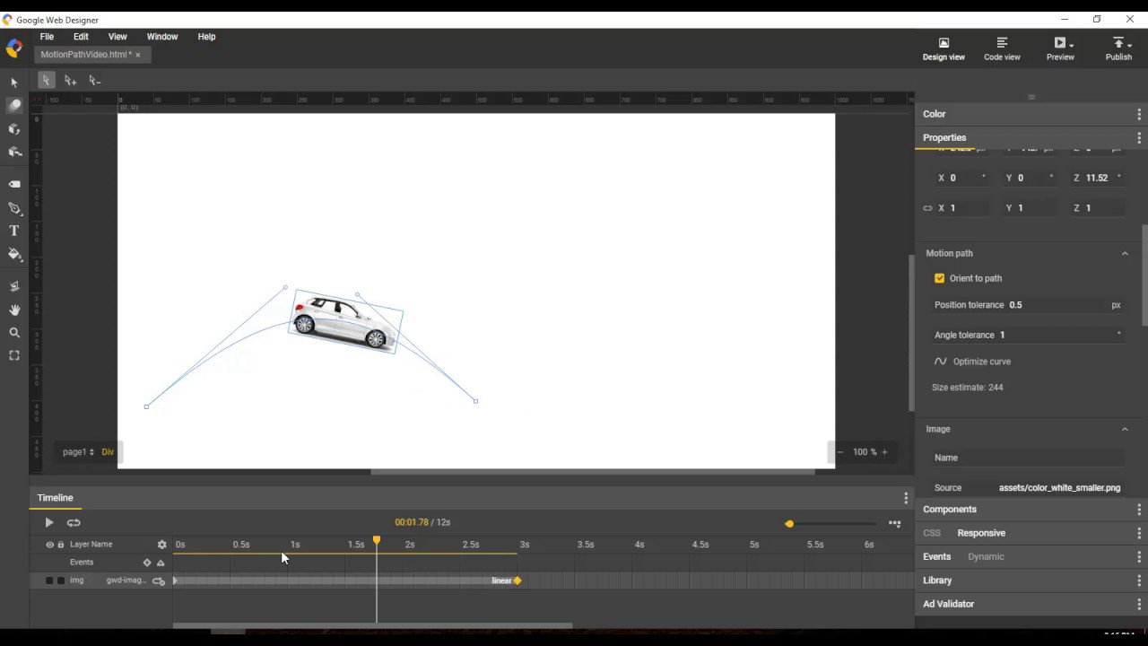Motion Paths Overview Google Web Designer Youtube