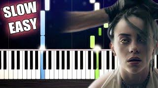 Billie Eilish - bury a friend - SLOW EASY Piano Tutorial by PlutaX