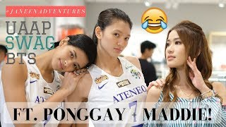 UAAP SWAG BTS. with Lady Eagles, MADDIE and PONGGAY! | Janeena Chan