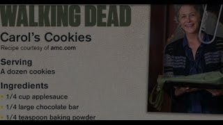 "How To Make The Walking Dead ""carols Cookies"" Recipe  2015"