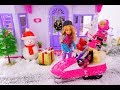Barbie day with the girls || snowmobile, gifts wrapping, groceries shopping.