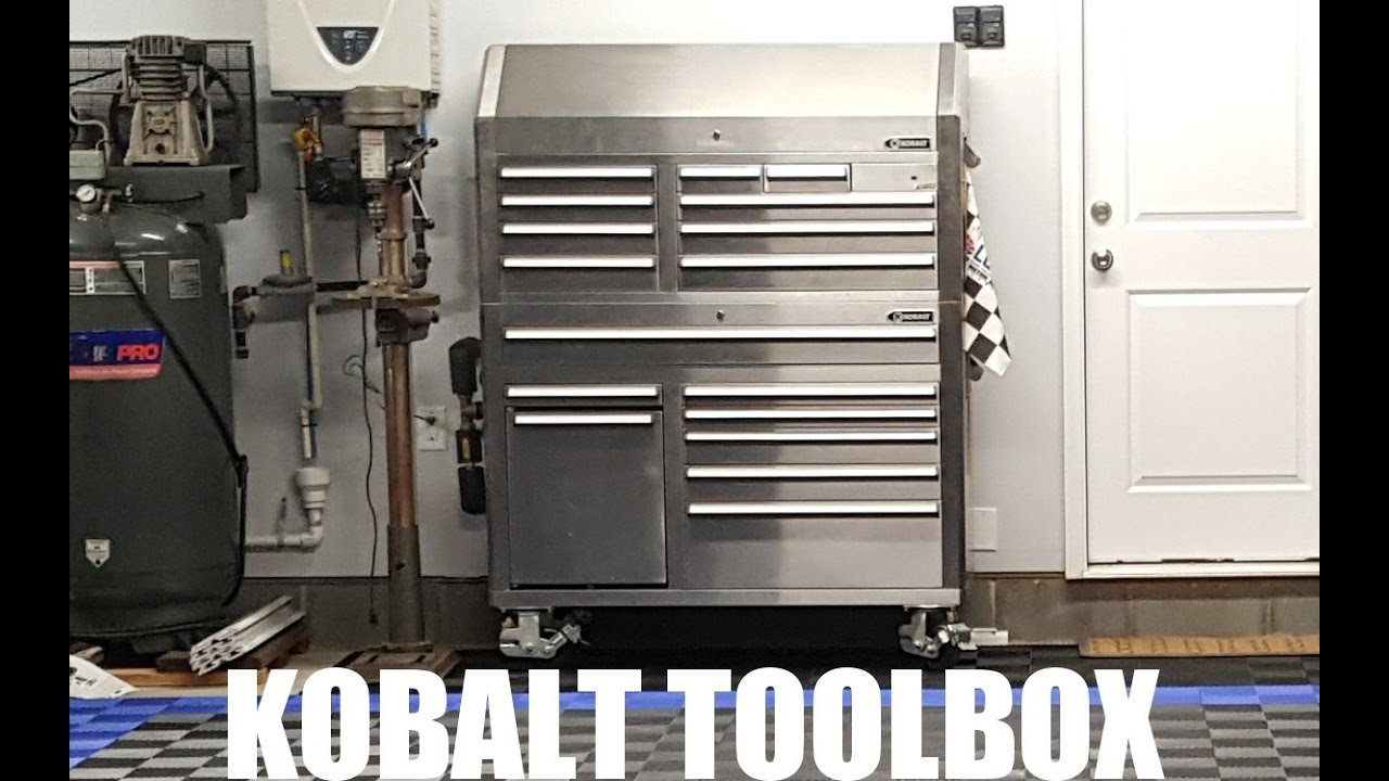 Kobalt Tool Cabinet >> Kobalt Stainless Steel Tool Cabinent Review - YouTube