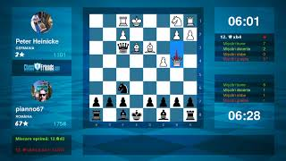 Chess Game Analysis: Peter Heinicke - pianno67 : 0-1 (By ChessFriends.com)