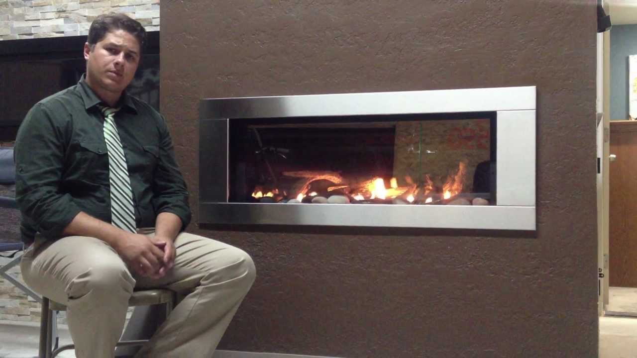 Napoleon Lhd45 Linear Gas Fireplace Modern Direct Vent Product Review Youtube