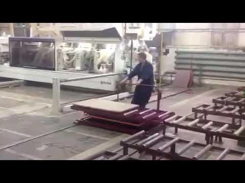 Подъемный стол Альфа-Техник на производстве мебели видео