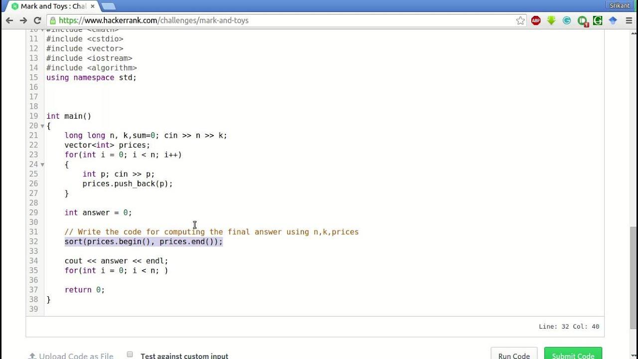 Hackerrank Answers In C