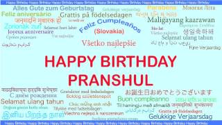 Pranshul   Languages Idiomas - Happy Birthday