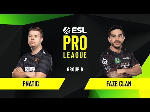 CS:GO - Fnatic Vs. FaZe Clan [Inferno] Map 2 - Group B - ESL EU Pro League Season 10