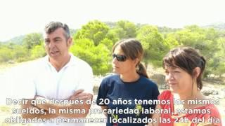 Precarias condiciones de los bomberos forestales (Región de Murcia)