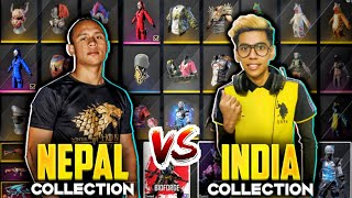 Tonde Gamer Vs UnGraduate Gamer Biggest Collection War🇮🇳❤️🇳🇵 - Garena Free Fire !!