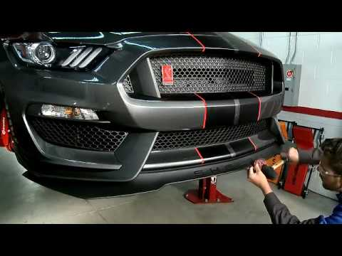 2015-2017 Ford Mustang Shelby GT350 and GT350R 1 Piece Front Splitter  Installation