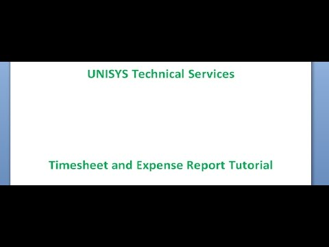 Timesheet and Expense Report Tutorial Video