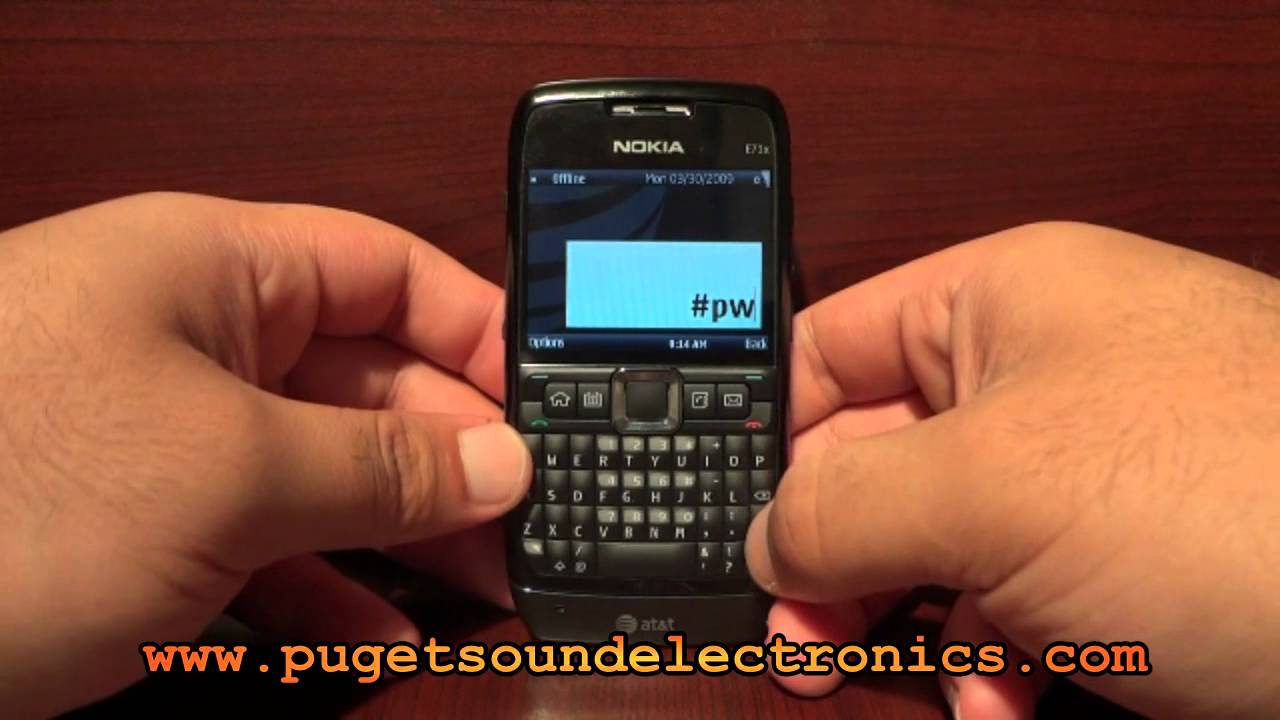 How to unlock At&t Nokia E71x