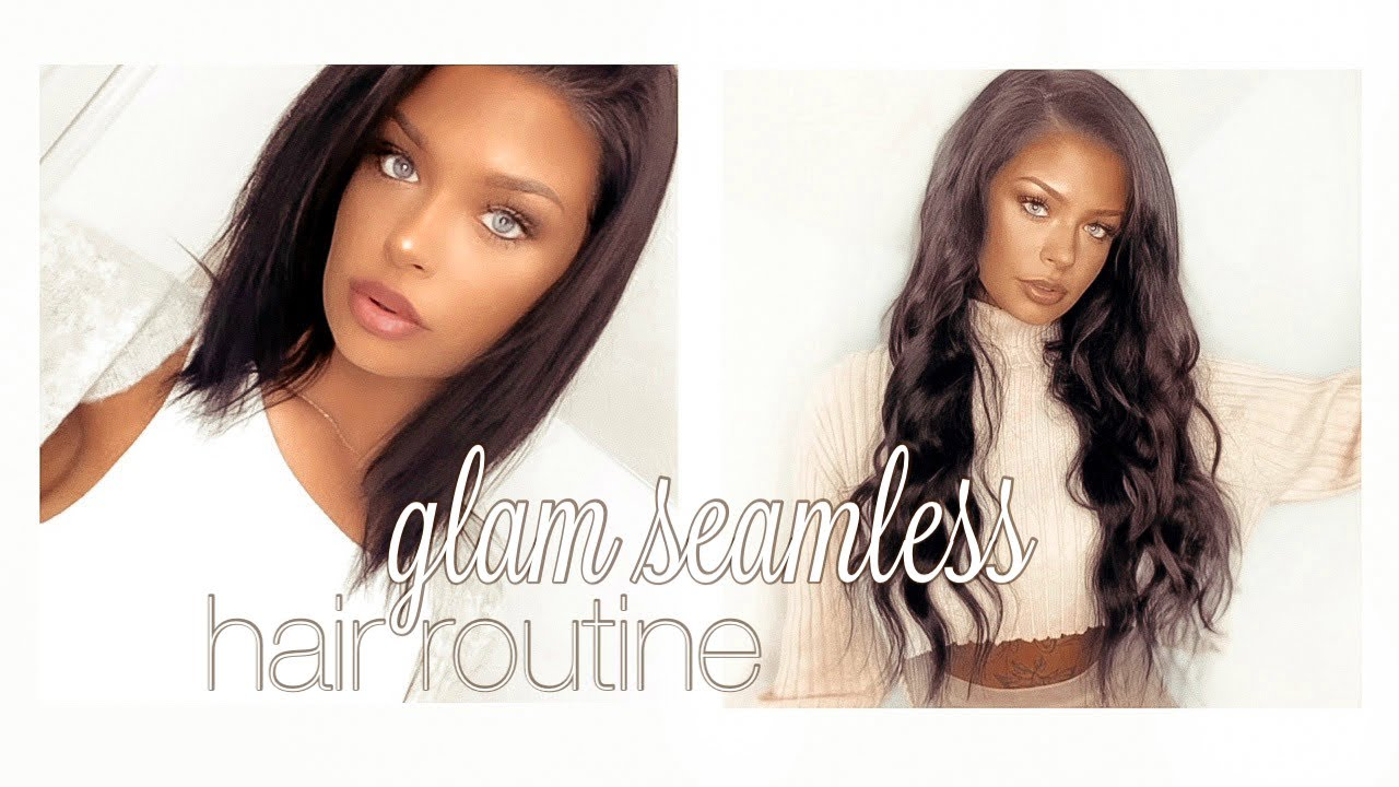 my daily hair extension routine | GLAM SEAMLESS