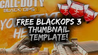 free black ops 3 thumbnail template psd free download free gfx