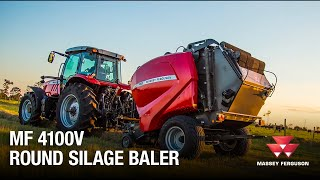 Massey Ferguson 4100v Round Silage Baler Intro