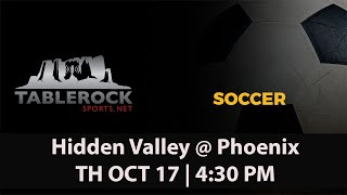Boys Soccer: Hidden Valley @ Phoenix
