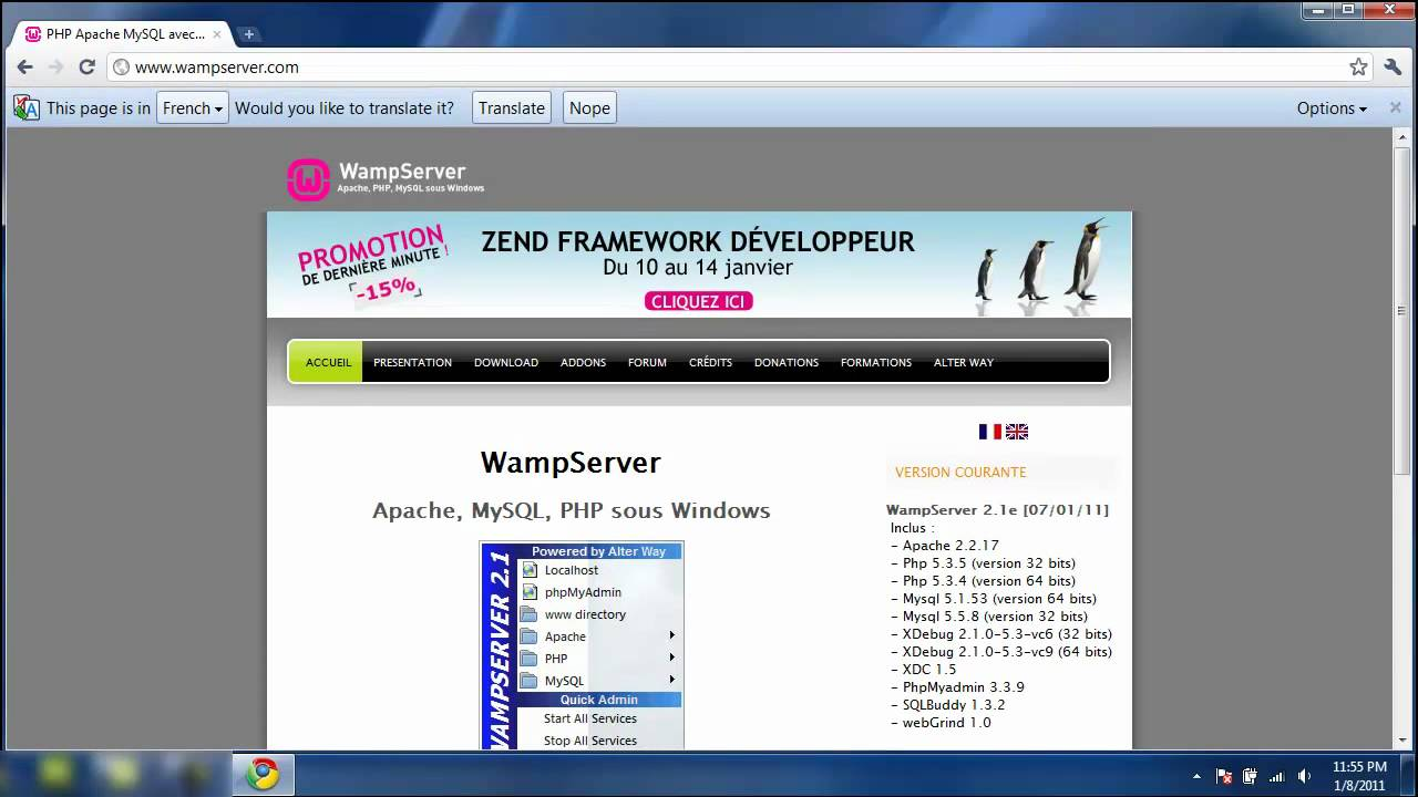 Wampserver 21 installation tutorial in 4 minutes youtube wampserver 21 installation tutorial in 4 minutes baditri Gallery