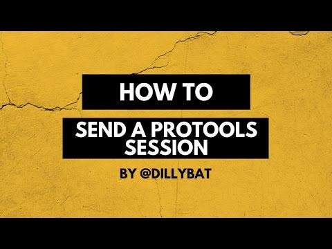 How To Send A Protools Session