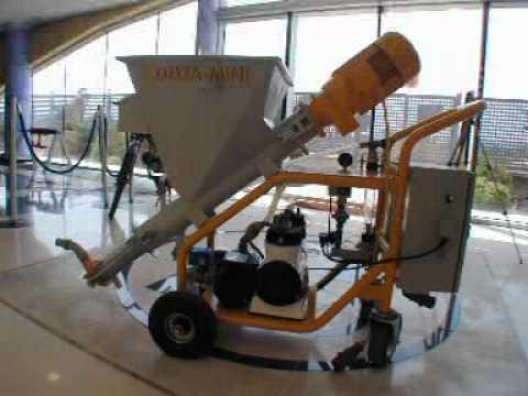 revocadora mini maquina de proyectar yeso y mortero