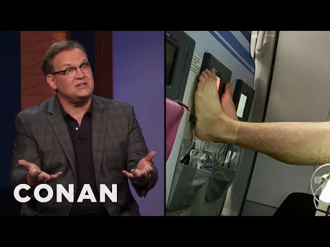 Andy Richter Called Out A Barefoot Airplane Passenger - CONAN on TBS