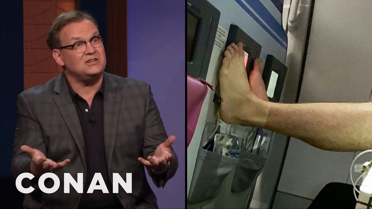 Andy Richter Nude andy richter called out a barefoot airplane passenger - conan on tbs