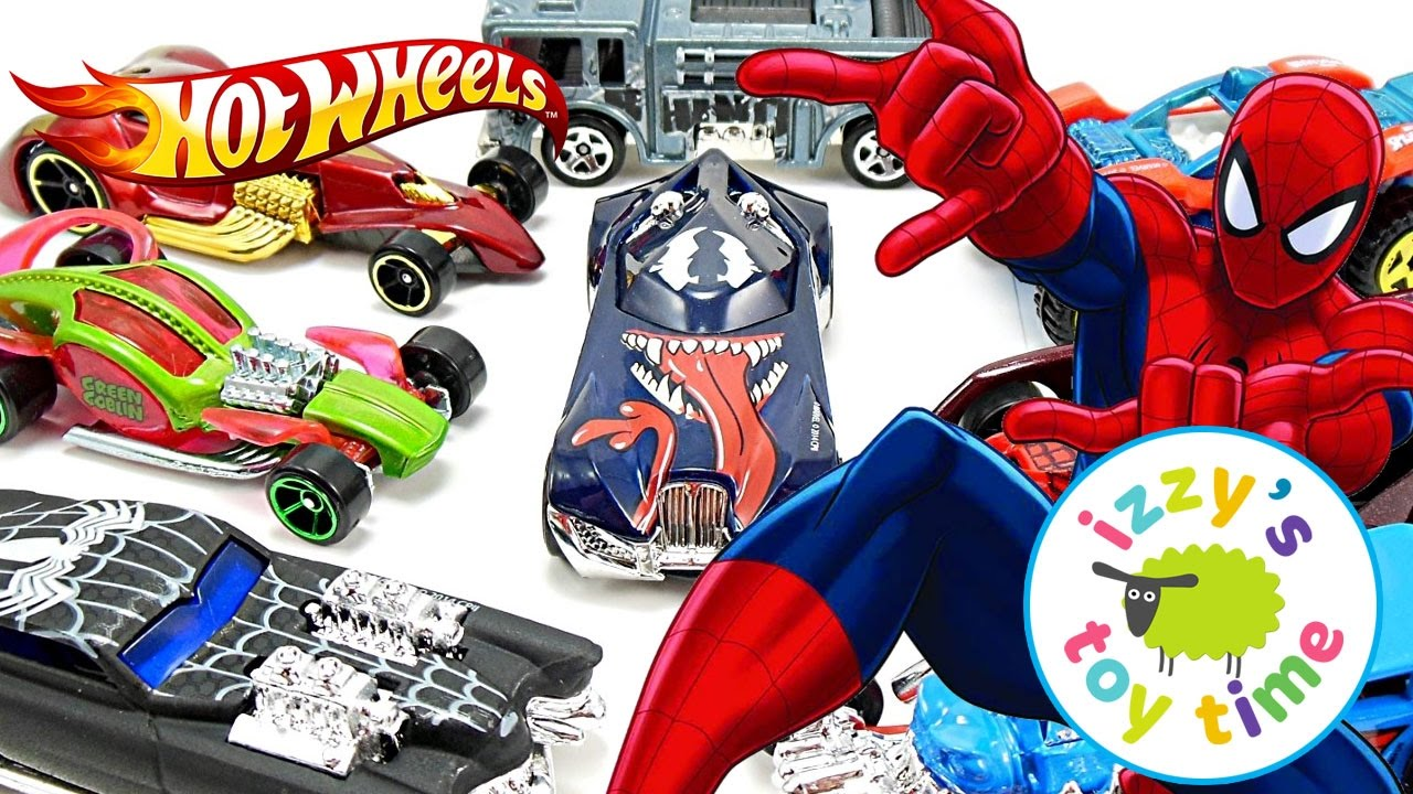 Cars for Kids | Hot Wheels Fast Lane Spiderman Playset! Fun Toy Cars for Kids and Family