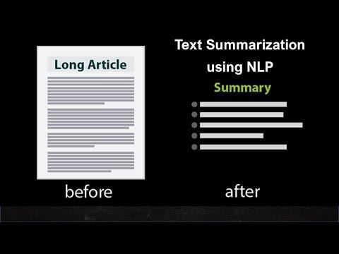 NLP Tutorial 12 – Text Summarization using NLP