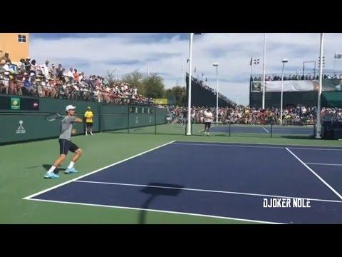 Novak Djokovic & Grigor Dimitrov Practice - Indian Wells 2017