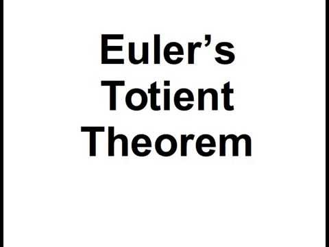 eulers totient theorem The euler's totient function, or phi (φ) function is a very important number  theoretic function having a deep relationship to prime numbers and the so-called  order.